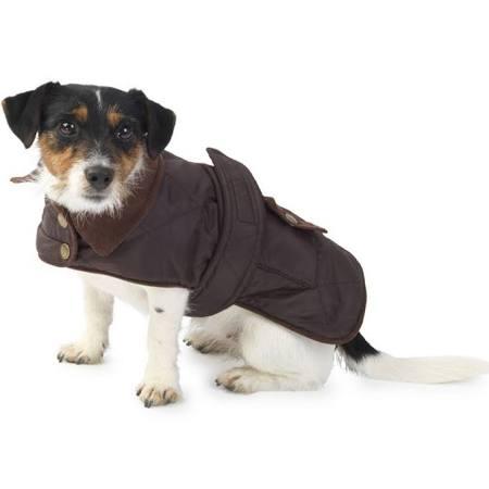 Brown Quilted Waterproof Coat