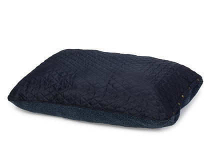 Country Quilted And Berber Fleece Reversible Pillow Bed