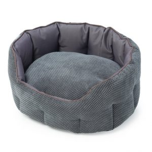 Grey Cord And Water Resistant Oval Snuggle Bed