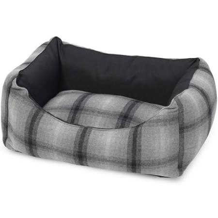 Grey Tweed And Water Resistant Rectangle Bed