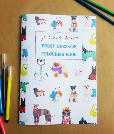 Doggy Dress-up Colouring Book