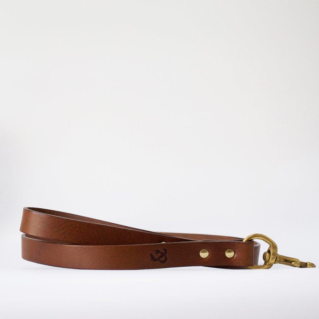 Leather Dog Lead Tan