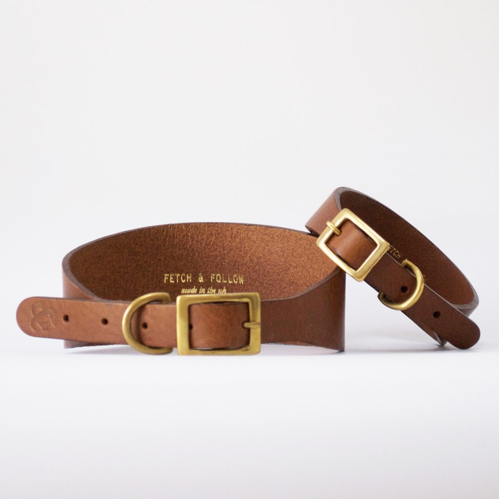 Leather Hound Collar Tan