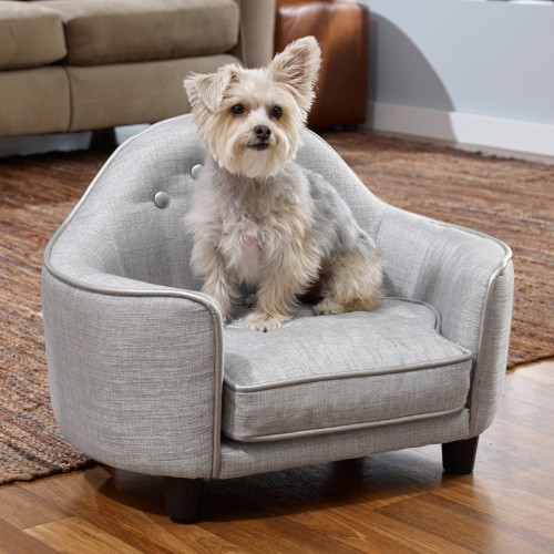 Plush Headboard Pet Sofa Bed