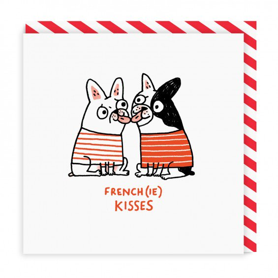 Frenchie Kisses Greeting Card