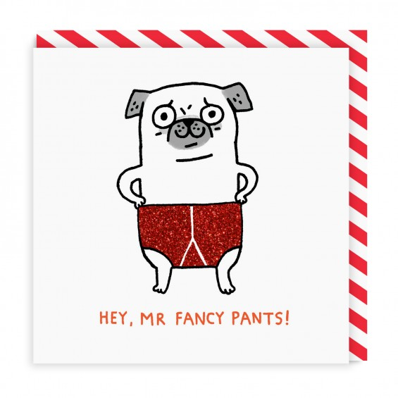 Mr Fancy Pants Greeting Card