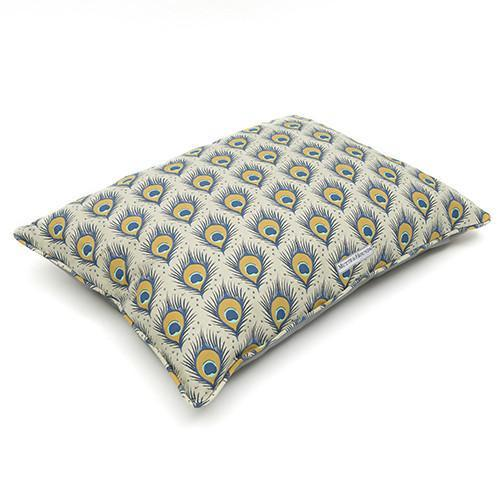 Mutts And Hounds Peacock Linen Pillow Bed