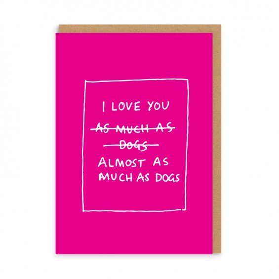 Dog Love Greeting Card