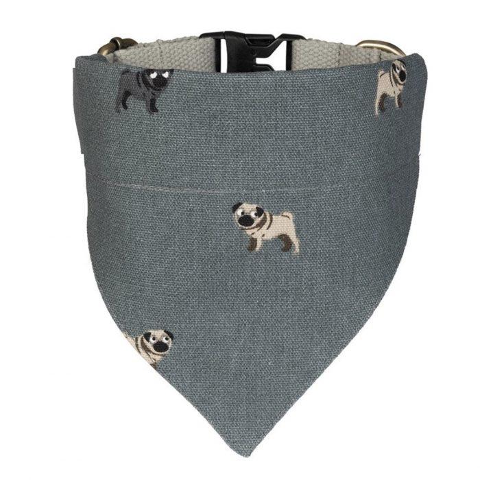 Pug Small Neckerchief Collar by Sophie Allport
