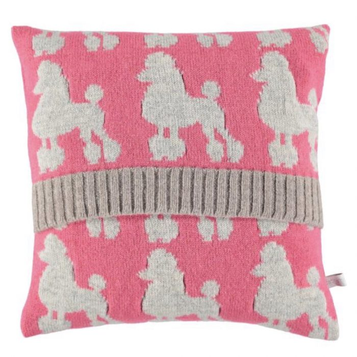 Pink Poodle Lambswool Cushion