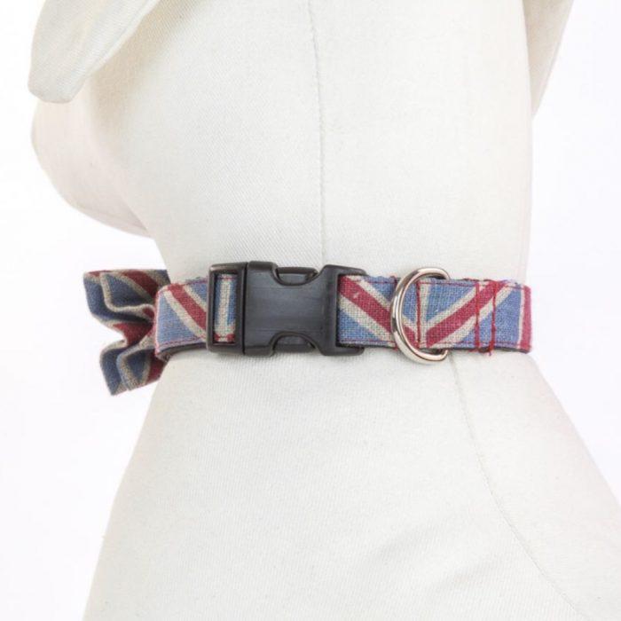 Union Jack Dog Bow-Tie Collar by Purplebone
