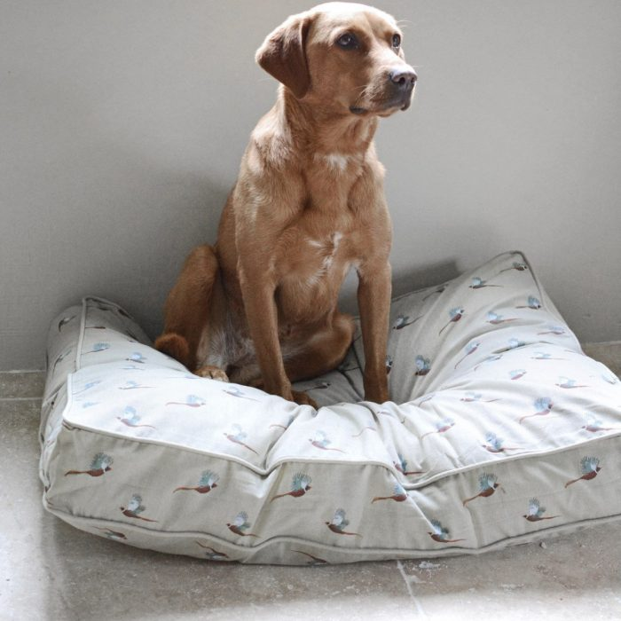 Pheasant Pet Bed Mattress by Sophie Allport