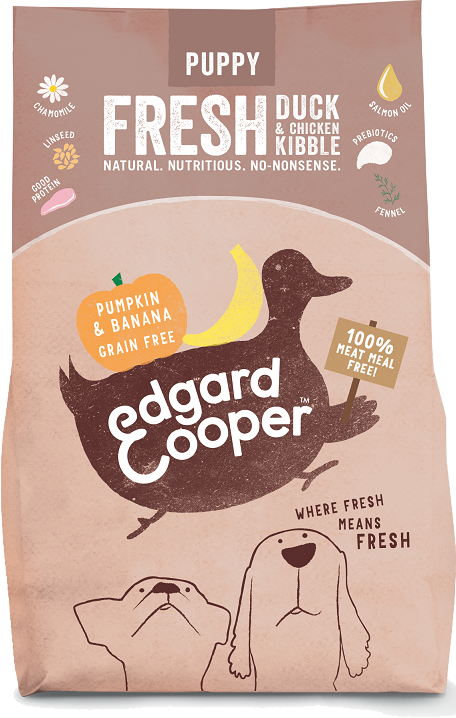 Edgard Cooper Puppy Fresh Duck & Chicken with Pumpkin and Banana Kibble