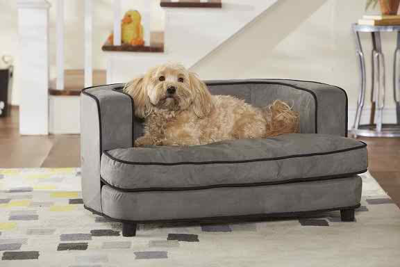Clifford Grey Dog Sofa Bed