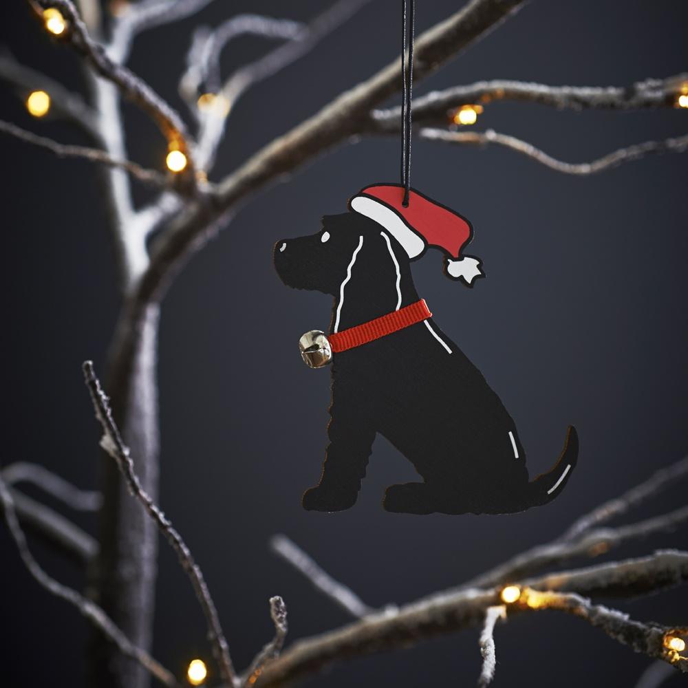 Black Cocker Spaniel Christmas Tree Decoration