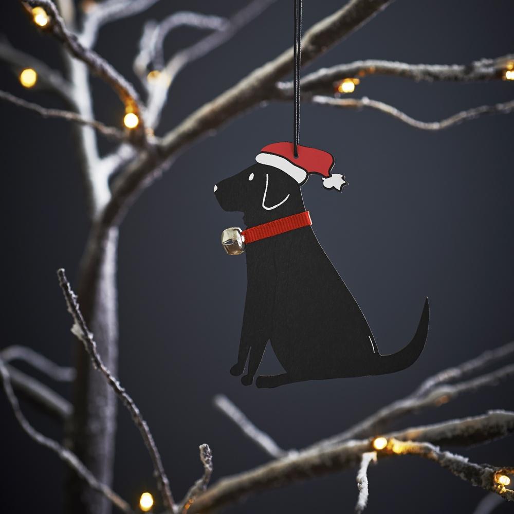 Black Labrador Dog Christmas Tree Decoration