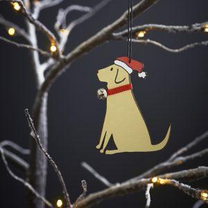 Yellow Labrador Dog Christmas Tree Decoration