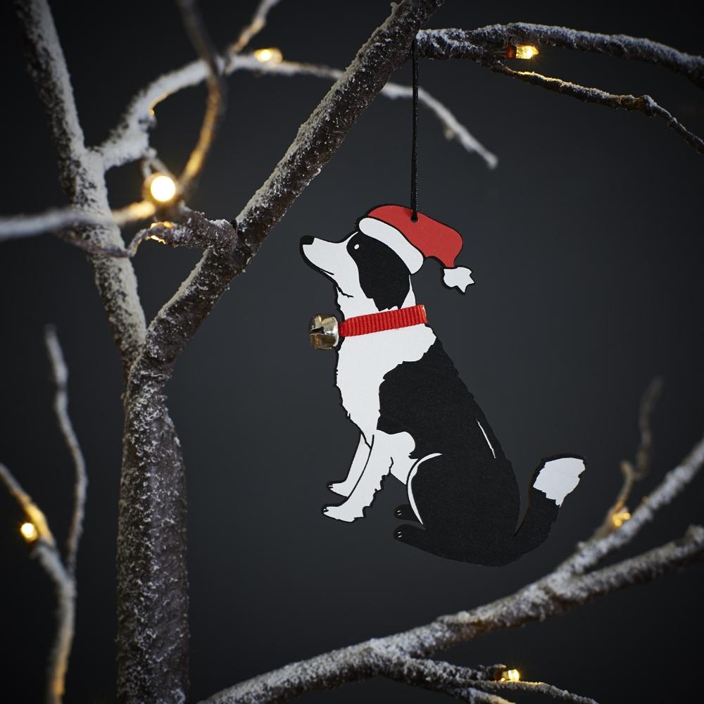 Border Collie Christmas Tree Decoration