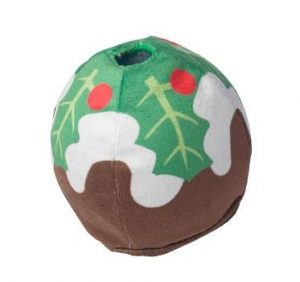 CHRISTMAS PUDDING TREAT DISPENSER BALL