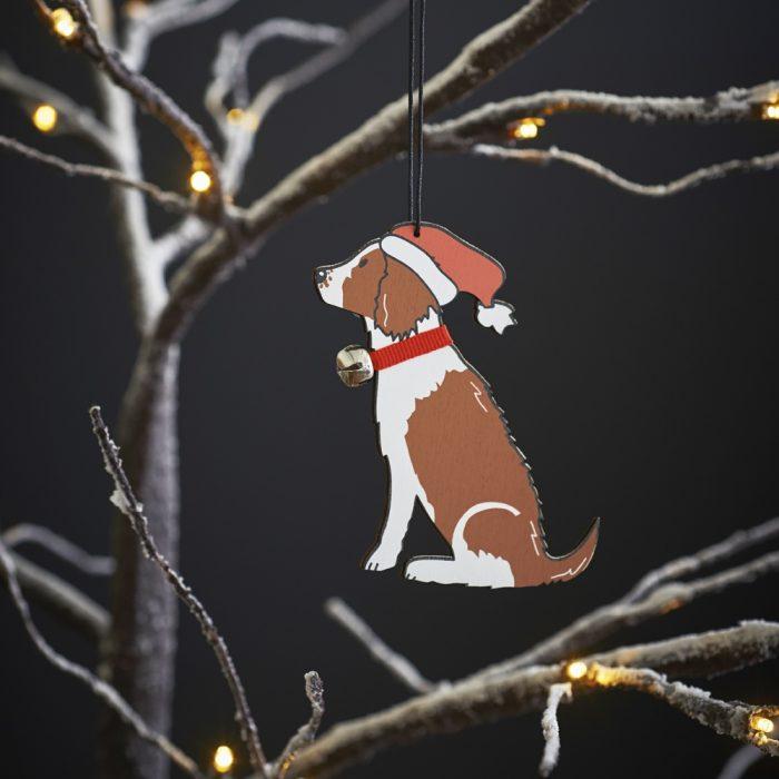Springer Spaniel (Liver & White) Christmas Tree Decoration