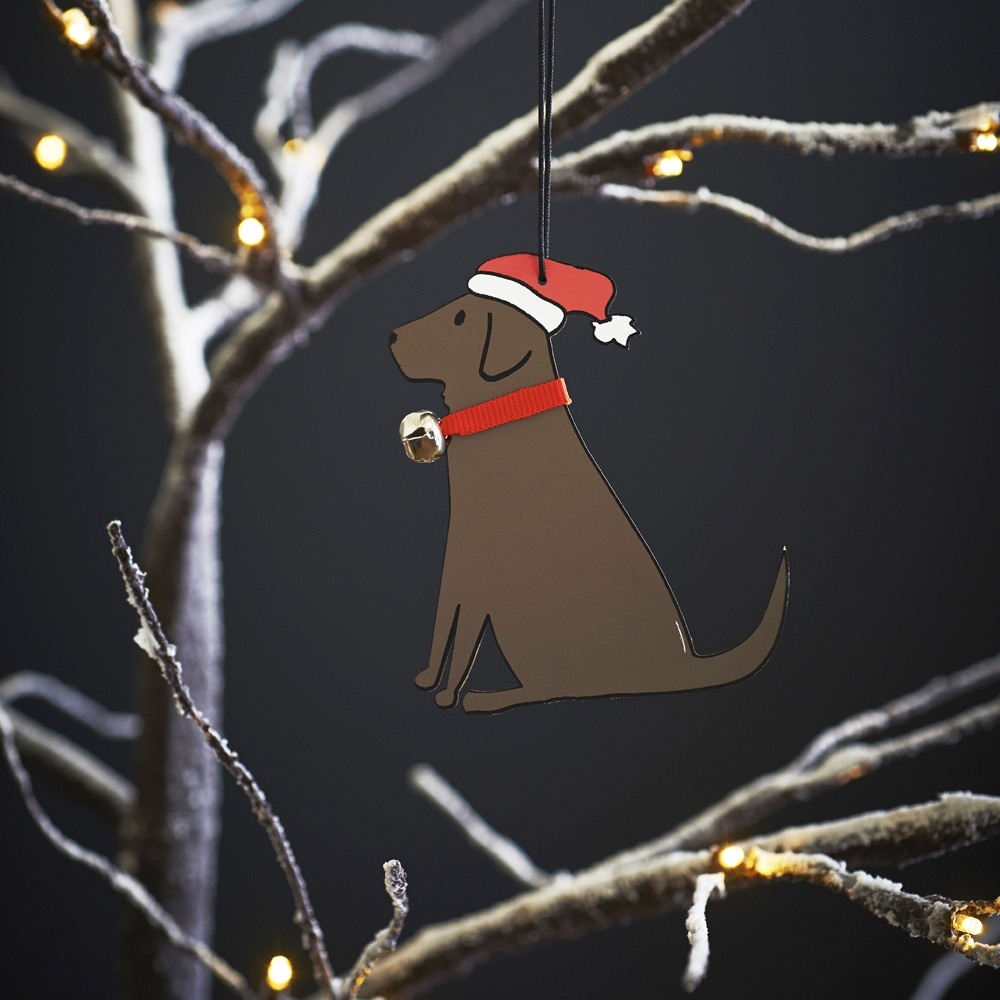 Chocolate Labrador Dog Christmas Tree Decoration