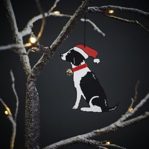 Springer Spaniel (Black & White) Christmas Tree Decoration