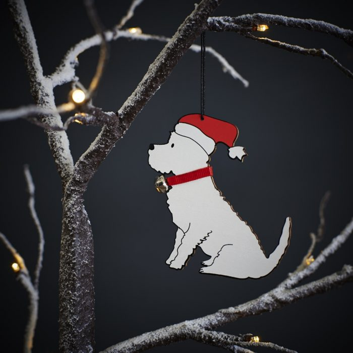 Westie Dog Christmas Tree Decoration