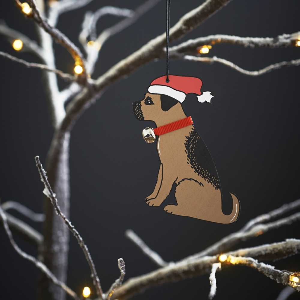 Border Terrier Dog Christmas Tree Decoration