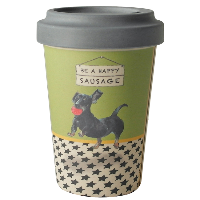 Dachshund Dog Bamboo Travel Cup