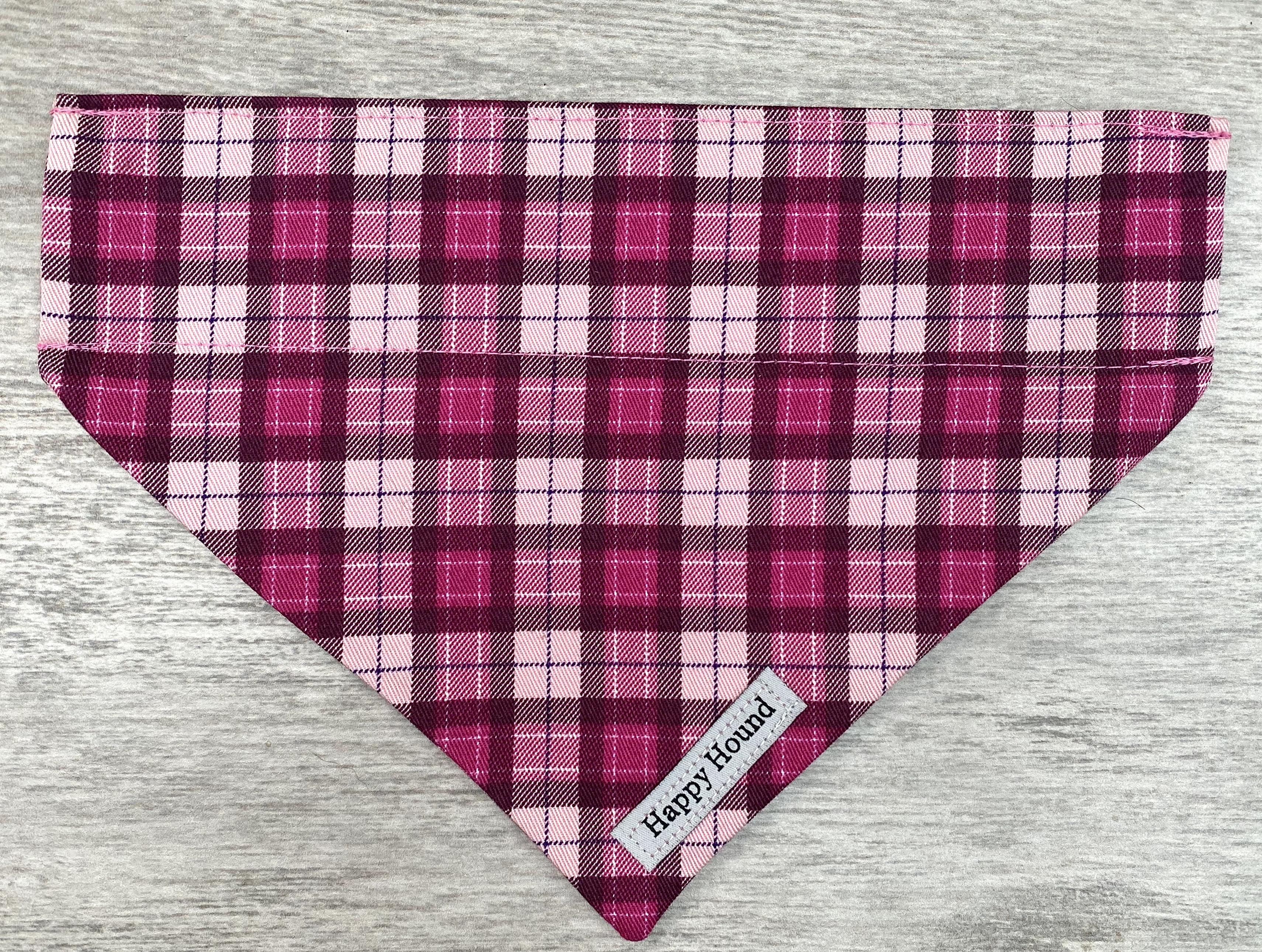 Dog Bandana – Pink Tartan
