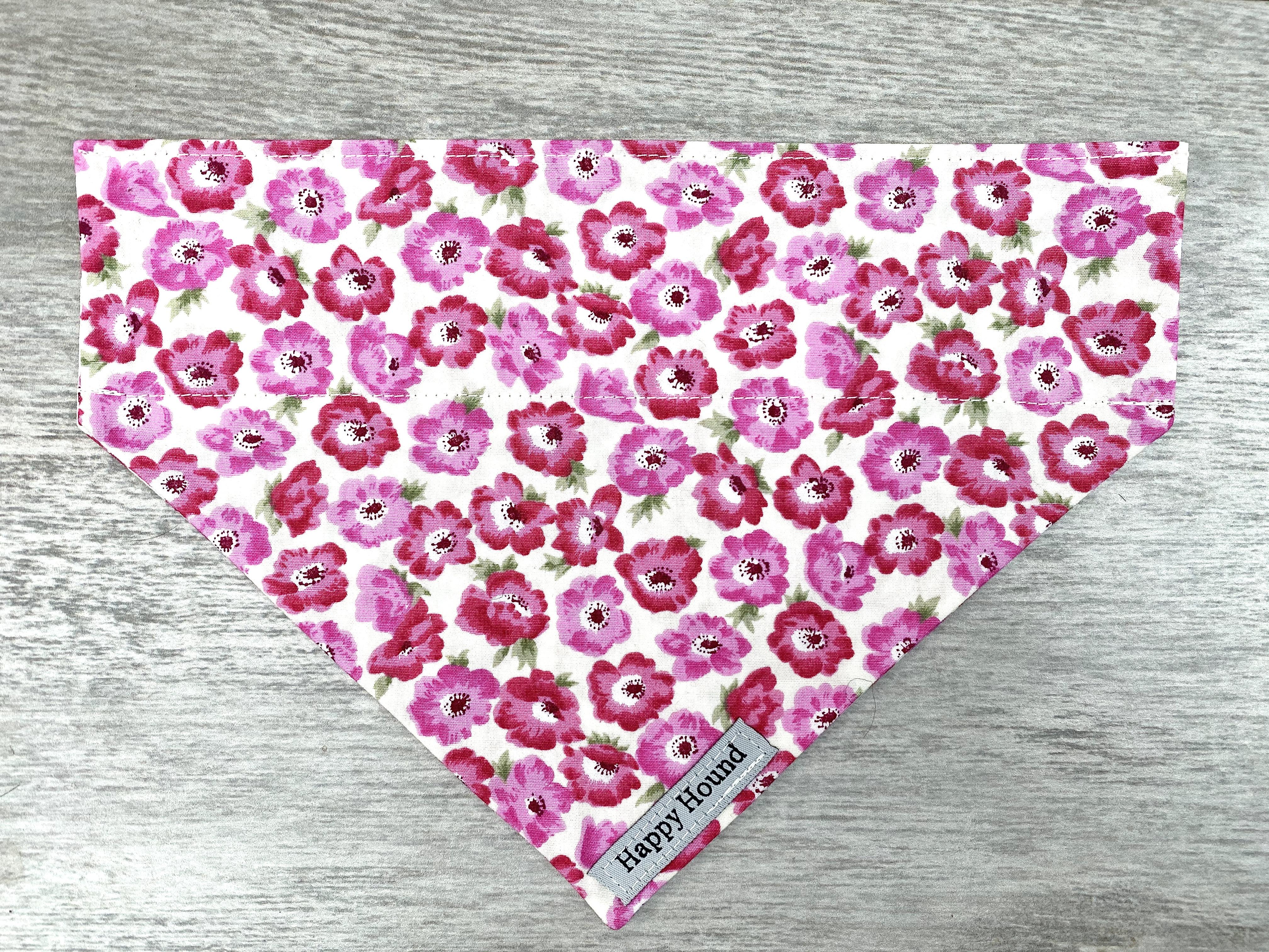 Dog Bandana – Pink Poppy