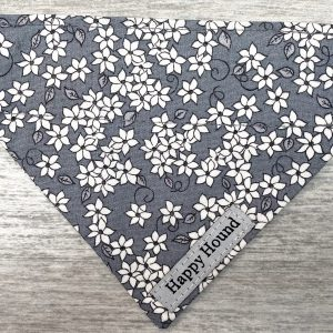Dog Bandana – Grey Floral