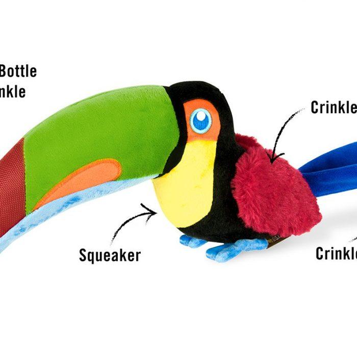 Toucan Plush Dog Toy