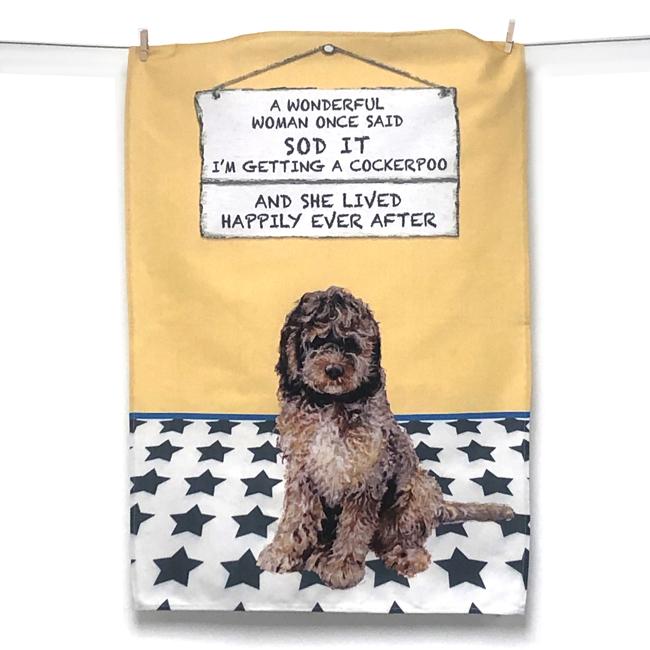 Cockapoo Tea Towel