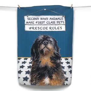 Rescue Dog Tea Towel