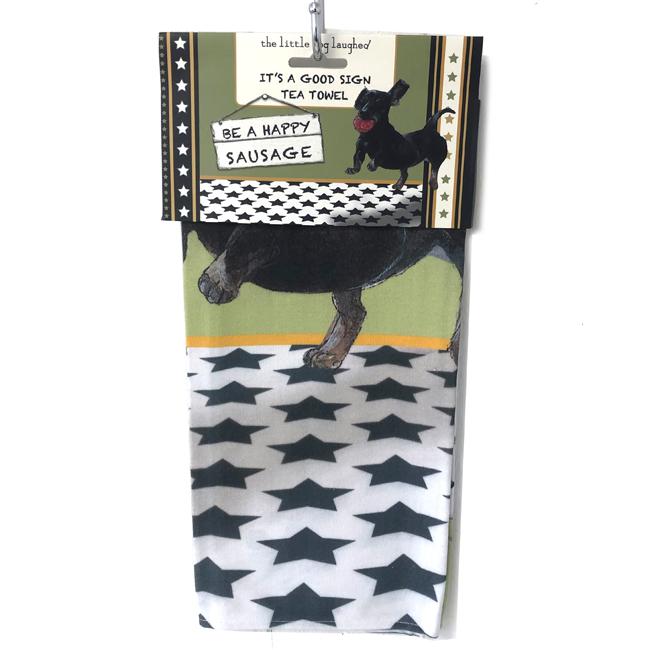 Dachshund Tea Towel – Happy Sausage