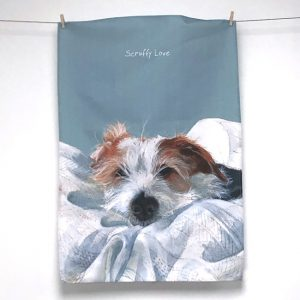 Jack Russell Scruffy Love Tea Towel