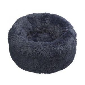 House of Paws Navy Faux Fur Donut Bed