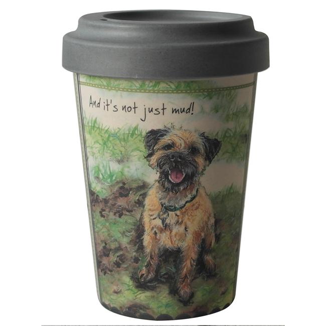 Border Terrier Bamboo Travel Mug Cup