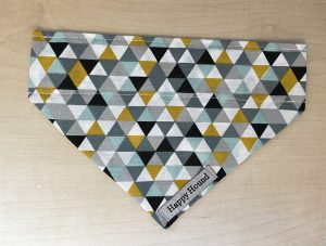 Dog Bandana – Grey Geometric
