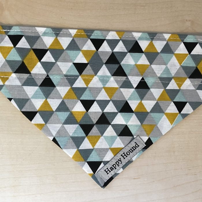 Dog Bandana – Grey Geometric