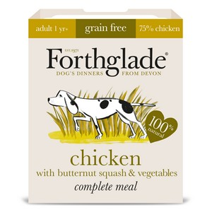 Forthglade Grain Free Adult Chicken, Butternut Squash & Veg Wet Dog Food 395g