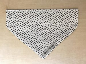 Dog Bandana – Black & White Spot