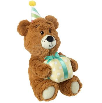 Birthday Bear Dog Toy