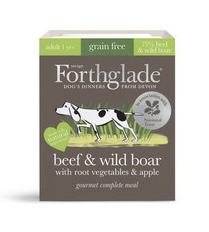 Forthglade Gourmet Beef & Wild Boar with Root Veg & Apple Wet Dog Food 395g