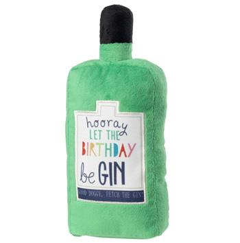 LET THE BIRTHDAY BE-GIN DOG TOY